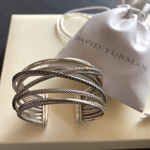 "🌸 ""RARE"" David Yurman Diamond Crossover Bracelet"